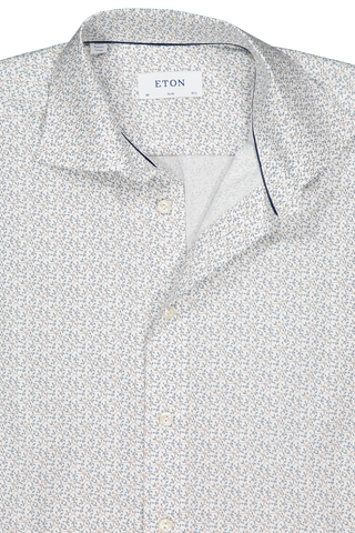 Front collar detail image of Eton Slim Fit Floral Print Woven