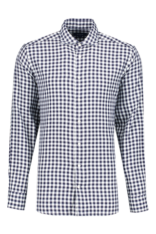 Front view image of Eton Slim Large Scale Gingham