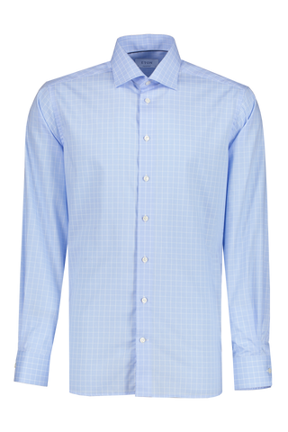 Front view image of Etro Windowpane Contemporary Fit Dress Shirt 71