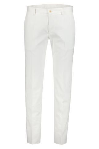 Front View Image Of Etro White Cotton Trouser