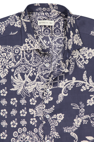 Front collar detail image of Etro Cotton Dress Shirt 200
