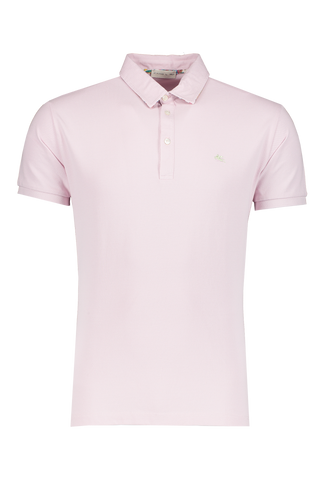 Front view image of Cotton Jersey Polo Pink