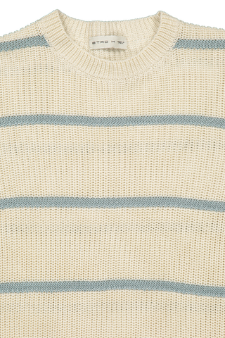 Front collar detail image of Cotton Sweater 991