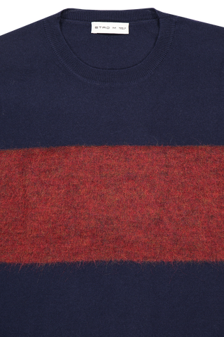 Neckline image of Etro Crewneck Wool Mohair Sweater