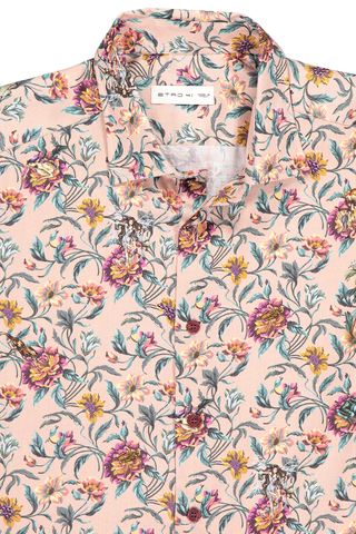 Collar detail image of Etro Floral Dress Shirt Rose