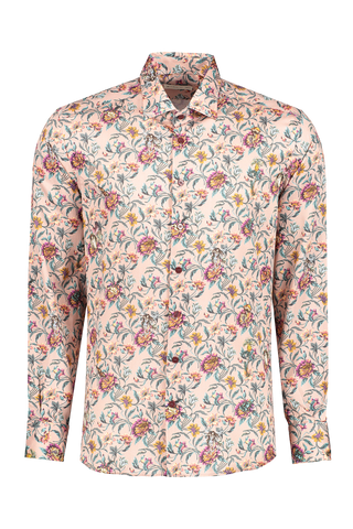 Front image of Etro Floral Dress Shirt Rose
