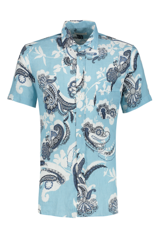 Front view image of Etro Linen Dress Shirt 250