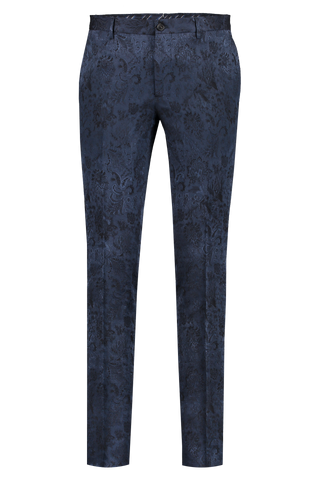 Front image of Etro Neutra Trousers Navy