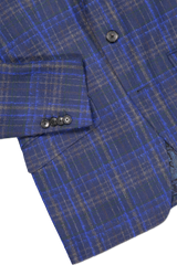 Hemline and sleeve detail image of Etro Plaid Wool Mohair Jacket