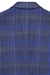 Back collar detail image of Etro Plaid Wool Mohair Jacket