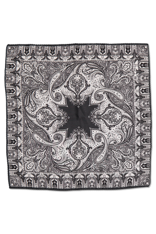 POCKET SQUARE PAISLEY BLACK