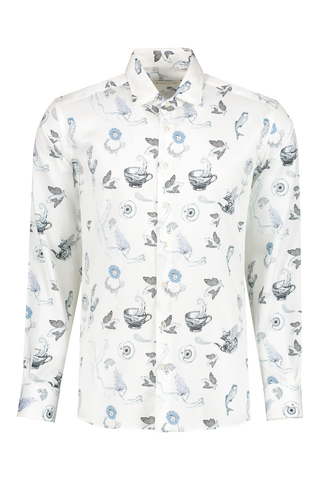 Front image of Etro Printed Dress Shirt