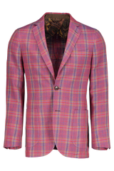 Wool Linen Plaid Sportcoat