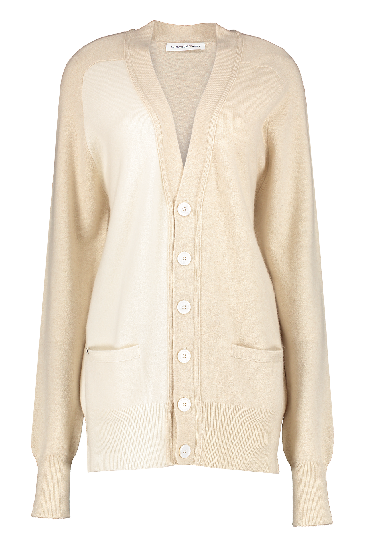 Front view image of Extreme Cashmere N°117 Cardigan Cream/Latte
