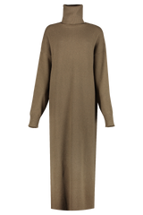 Front view image of Extreme Cashmere N°119 Protection Maxi Dress Brown