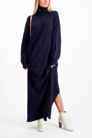 Full Body image Of Model Wearing Maxi Dress Navy