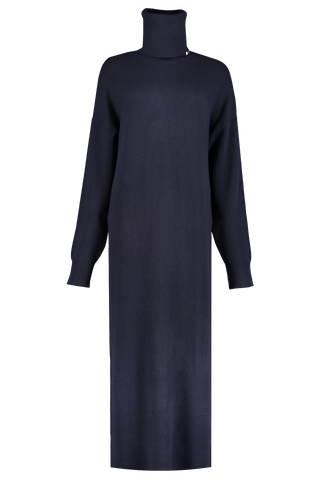 Front view image of Extreme Cashmere N°119 Protection Maxi Dress Navy