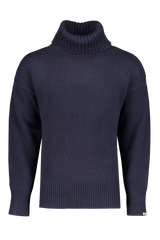 Front view image of Extreme Cashmere N°20 Oversize Xtra Sweater Navy