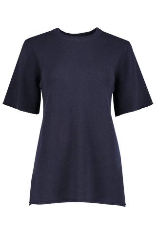 Front view image of Extreme Cashmere N°64 T-Shirt Navy