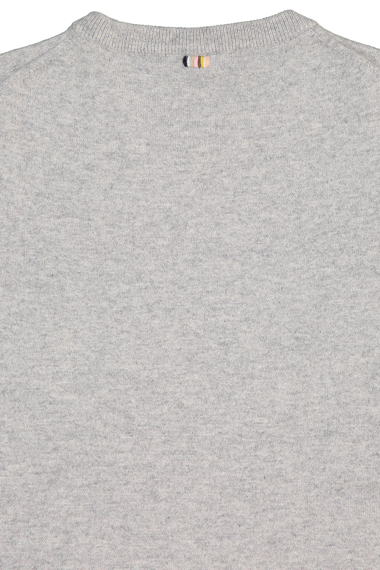 Back collar detail image of Extreme Cashmere N°64 T-Shirt Grey