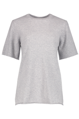 Front view image of Extreme Cashmere N°64 T-Shirt Grey