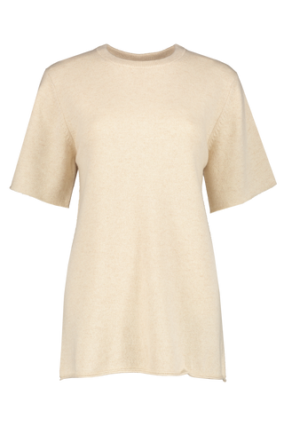 Front view image of Extreme Cashmere N°64 T-Shirt Latte