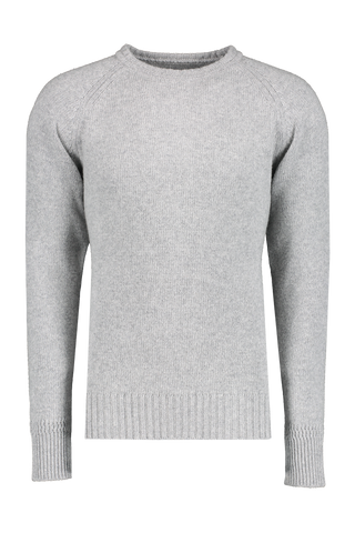 Front view image of Fortela Crew Sweater Heather Grey