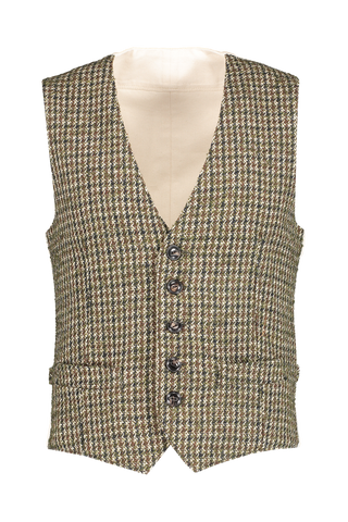 Front view image of Fortela Houndstooth Vest
