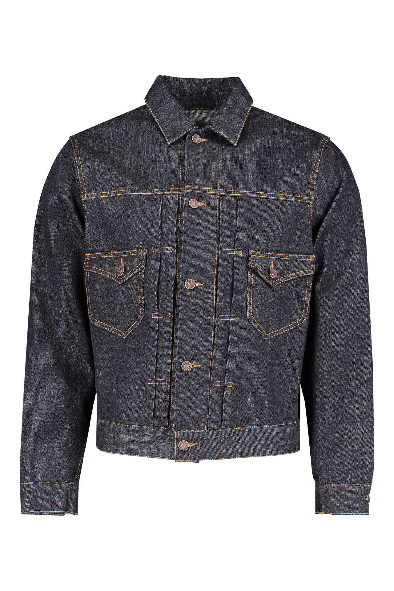 Front view image of Fortela Jean Jacket Blue