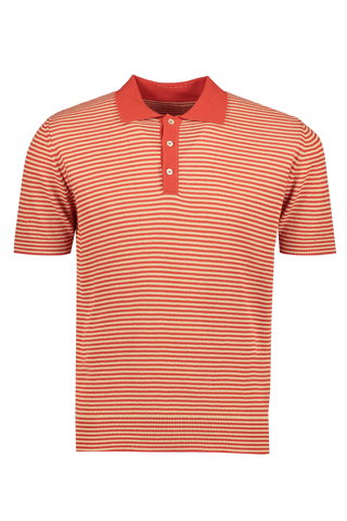 Stripe Polo Orange
