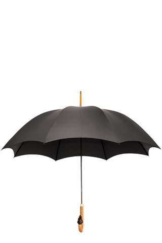 DOBERMAN HEAD UMBRELLA DARK GREY