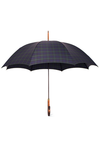 Single Horn Umbrella Tartan