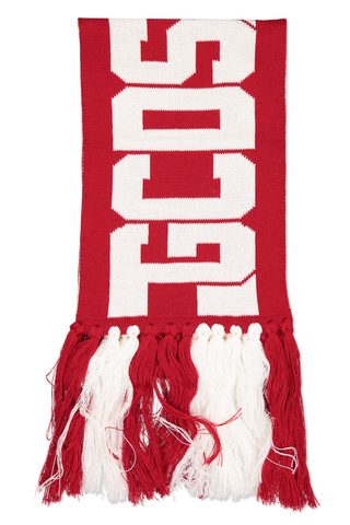 Front Image of CLASSIC LOGO SCARF RED