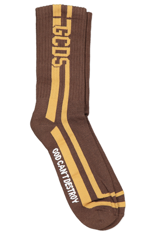 Round Socks In Brown