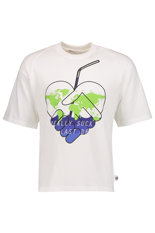 Front Image Short Sleeve Eco Raglan Tee White
