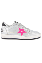 Front Image of Golden Goose Women's Ball Star Sneaker Silver
