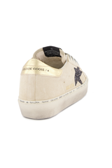 Heel Detail Image of Golden Goose Women's Hi Star Sneaker Pearl Suede