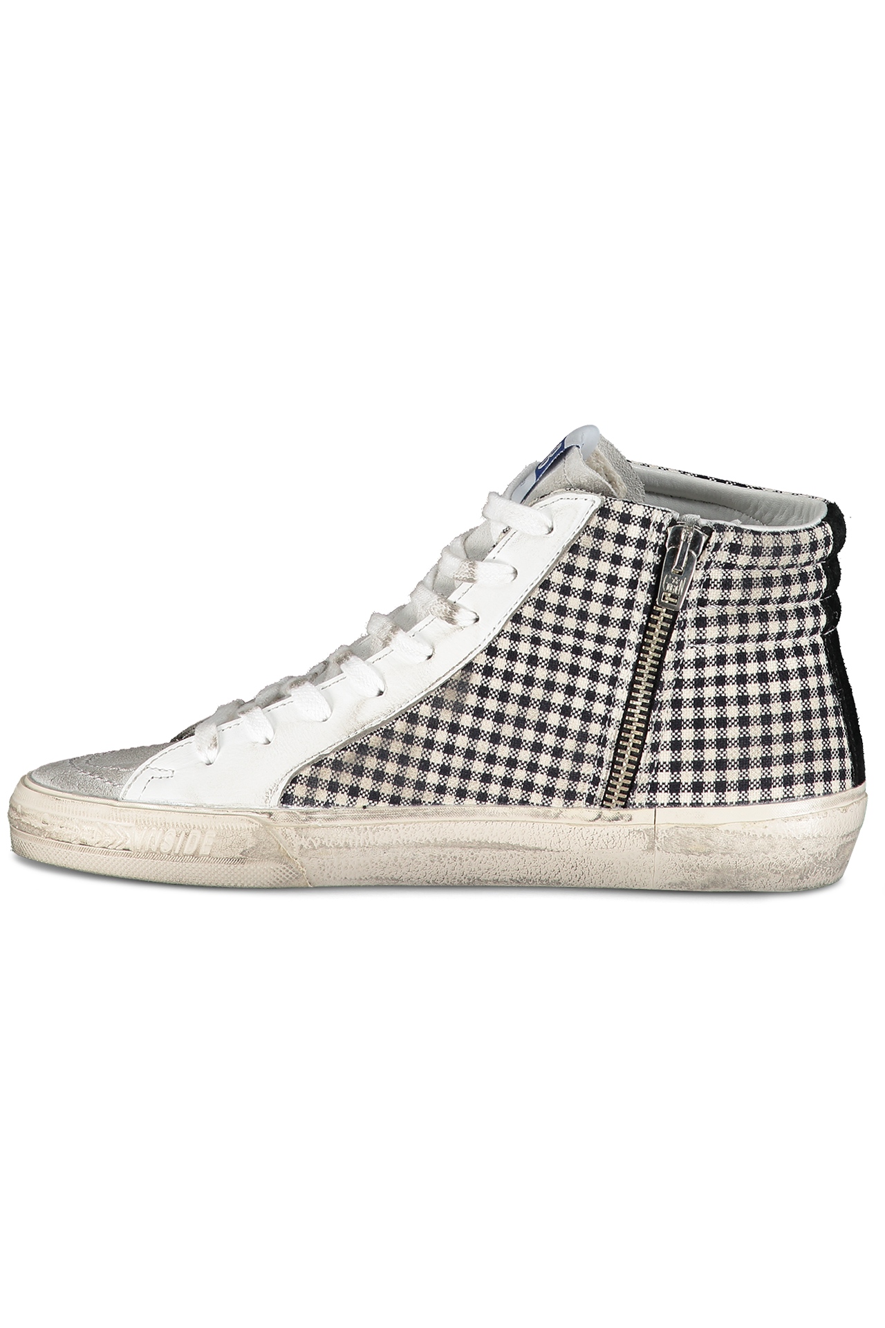 Slide Sneaker White Check