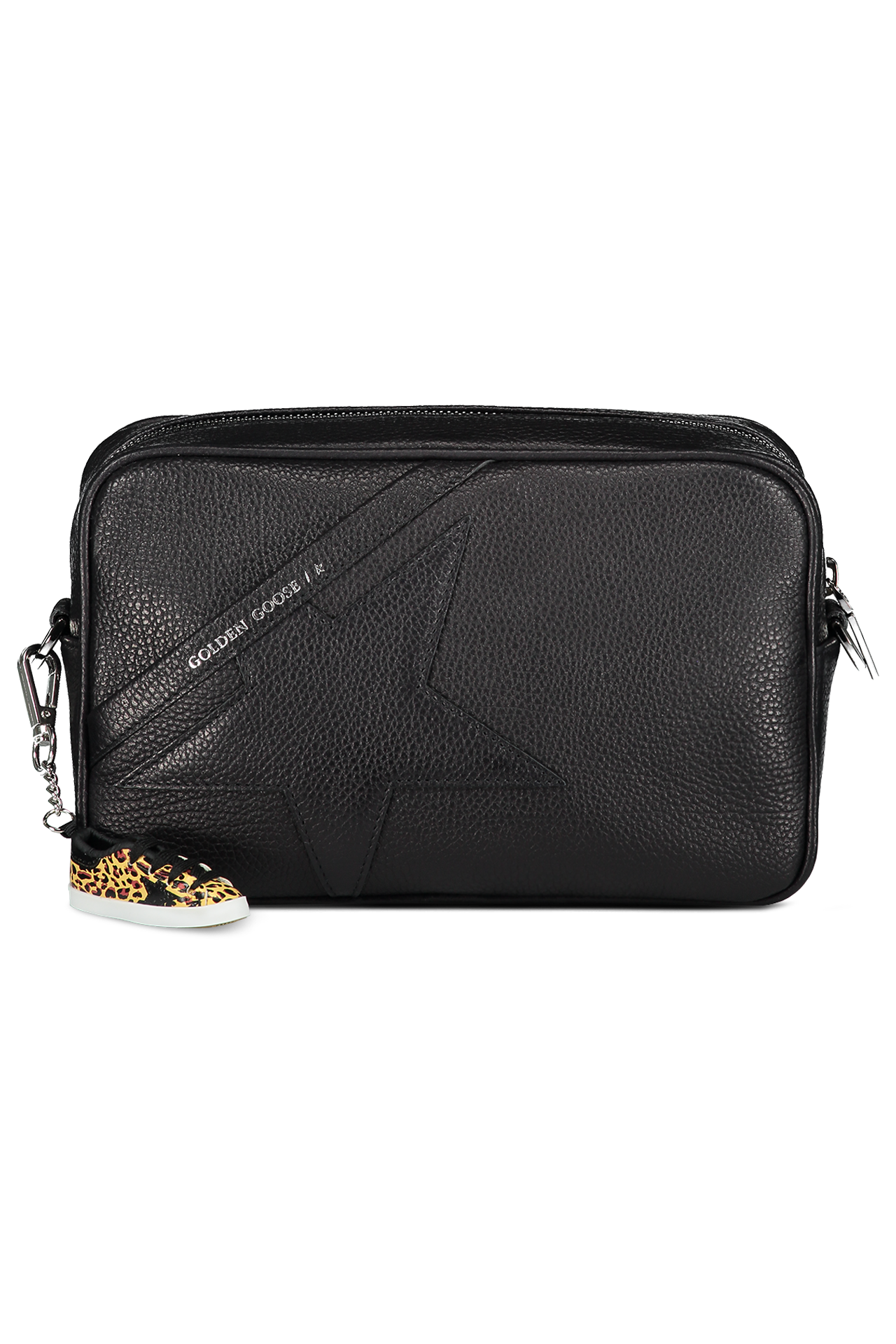 Front Image of Golden Goose Women's Star Bag Black Grained Calfskin