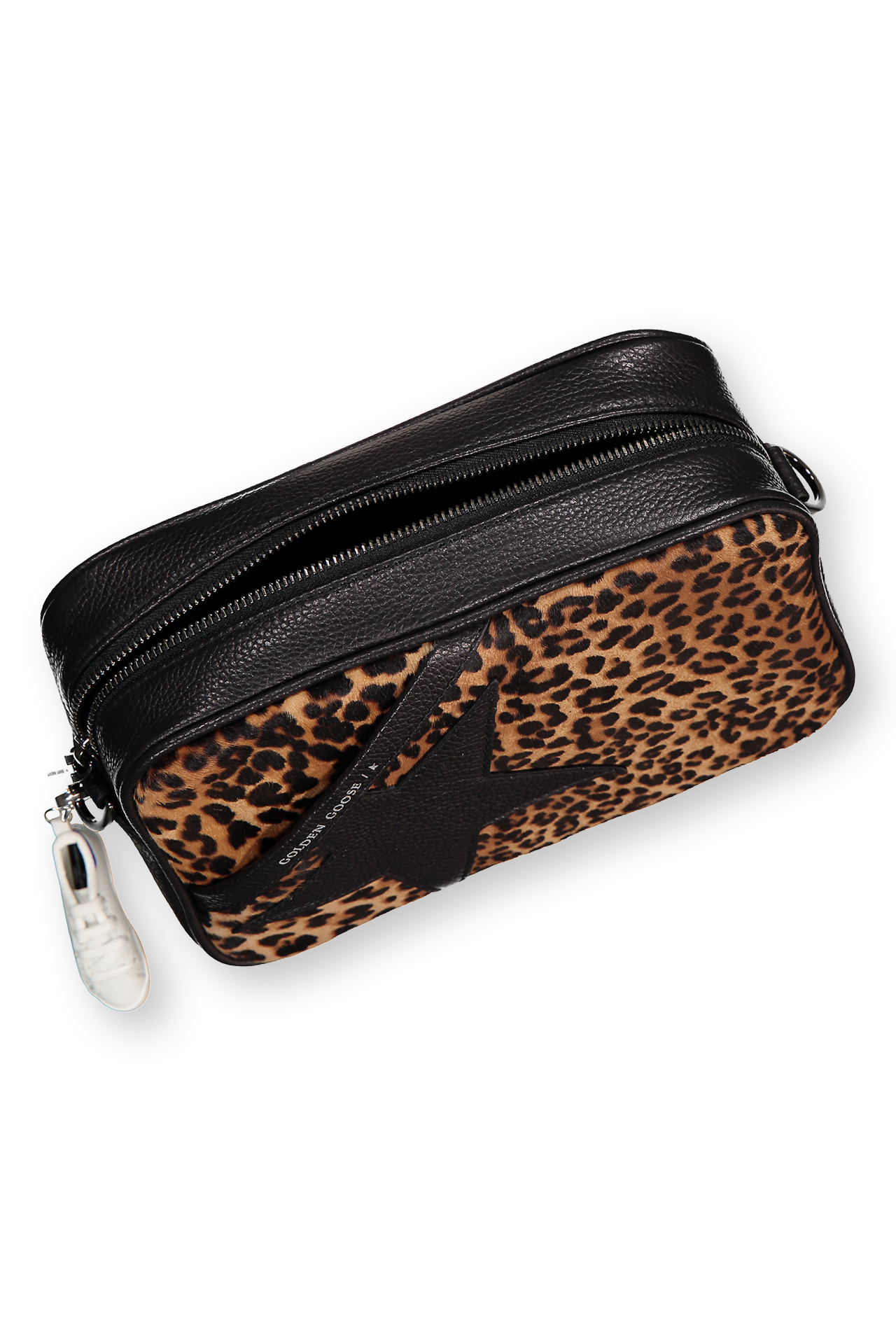 Zipper Detail Image of Golden Goose Women's Star Bag Leopard