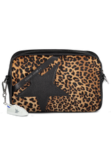Front Image of Golden Goose Women's Star Bag Leopard