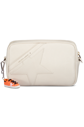 Front Image of Golden Goose Women's Star Bag White Grained Calfskin
