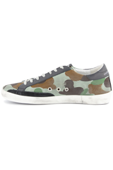 Instep side view image of Golden Goose Men's Superstar Low Top Sneakers Camouflage