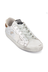 Angle Image of Golden Goose Women's Superstar Sneaker Silver