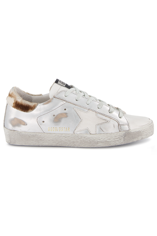 Front Image of Golden Goose Women's Superstar Sneaker Silver