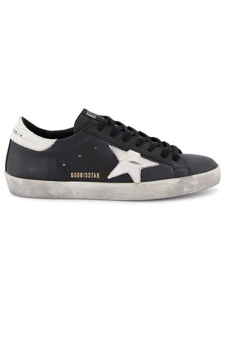 Side view image of Golden Goose Men's Superstar Sneaker Black