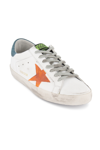 Front angled view image of Golden Goose Men's Superstar Sneaker White