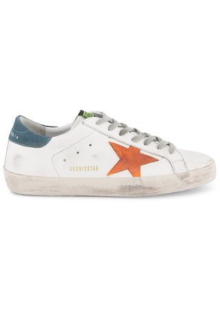 Side view image of Golden Goose Men's Superstar Sneaker White