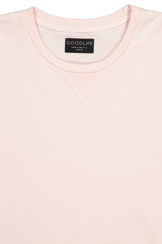 Front collar detail image of Good Life Micro Terry Crewneck Sweatshirt