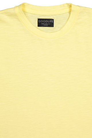Neckline detail image of Good Life Short Sleeve Club Scallop Crew Tee
